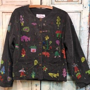 RARE Sacred Threads People Jacket Blazer Sz S M
